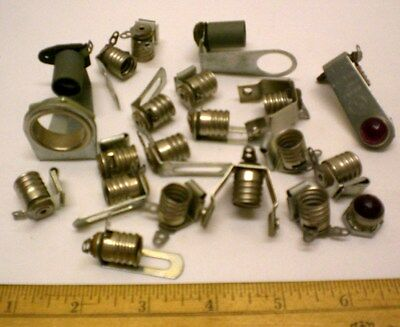 Vintage 6S6 Lampholders, 20 Assorted, Most by Leecraft,  Made in USA