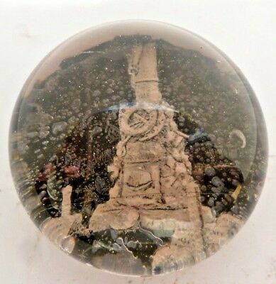 Antique Victorian Glass Paperweight Of Caistor Memorial