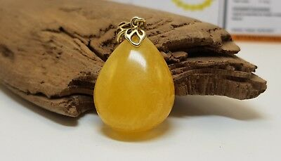 Pendant Stone Amber Natural Baltic White Special 6,8g Rare Sea Vintage Old F-281