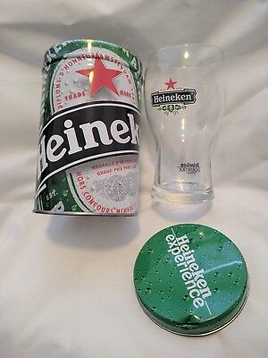 Heineken Experience Beer Glass & Souvenir Tin