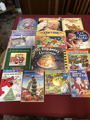 Lot Of 6 Childrens Christmas Board Books New Nativity Snow Day
