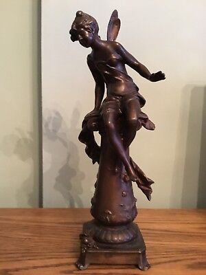 Auguste Moreau French patinated  bronzed  spelter figurine  (Late 19th century)