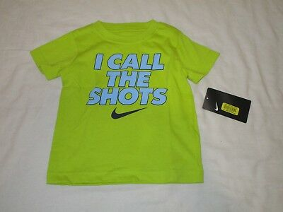 Boys Nike I Call The Shots T-Shirt Green/blue 2T 862641-063 Nwt