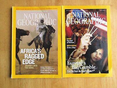 2 X NATIONAL GEOGRAPHIC MAGAZINES  May 2004 + April 2008