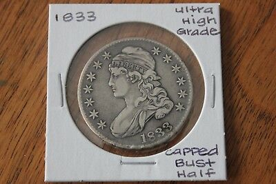 1833   Ultra High Grade   Capped Bust Half Dollar