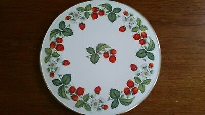 Royal Worcester Strawberries Cake Plate/Stand.