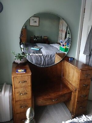 Stunning Art Deco dressing table with full length mirror 1920s