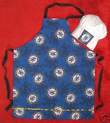 Chelsea Football Fabric Apron & Chefs Hat Childs Bbq New
