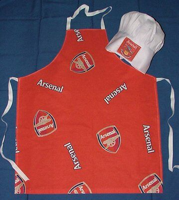 Arsenal  Fabric Apron & Chefs Hat Childs Bbq New
