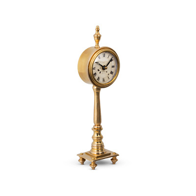 Victoria Table Clock - Solid Brass - Desk Clock - Vintage Industrial - English M