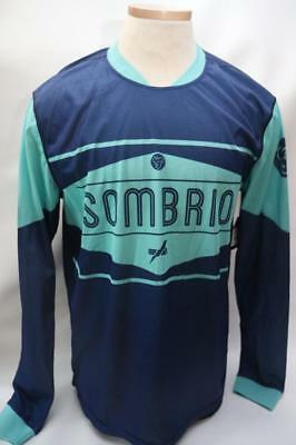 New Sombrio Men s Duster Cycling Bike Large MTB Jersey Blue Long Sleeve  Baggy ecb6b86c3