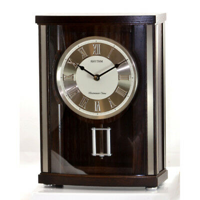 Rhythm CRJ735NR06 Wood Mantel Clock with Pendulum and 16 Melodies