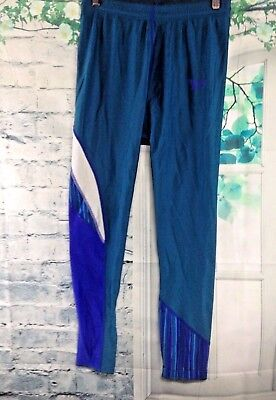 VTG 80s Reebok Tight Shiny SPANDEX Lycra Pants UNISEX Teal Blue Purple