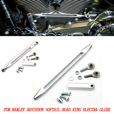 Chrome Shift Linkage Shifter Link CNC fit Harley Touring Dyna Softail Road Glide