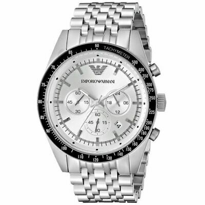BRAND NEW Emporio Armani Stainless Steel Silver Chronograph Mens Watch AR6073