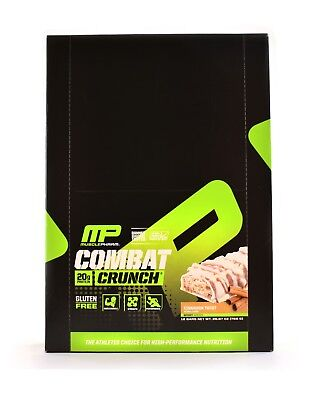 MusclePharm Combat Crunch Cinnamon Twist Gluten Free Protein Bar 12 Bars