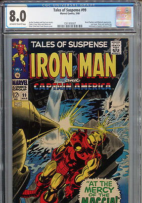 Tales of Suspense #99 (Marvel 1968) CGC Certified 8.0 Off-White-White Pages