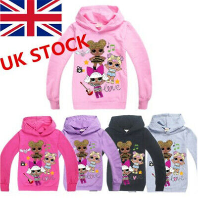 2018 LOL Surprise Dolls Kids Boys/Girls Hoodies Sweatshirts Casual Clothes Tops