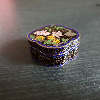 17# Alte China Cloisonne Pillen Dose