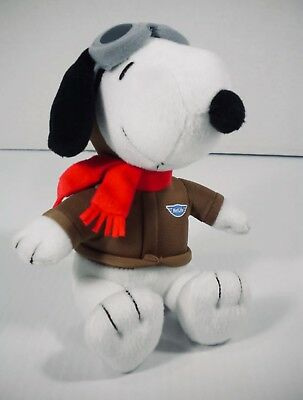 "MetLife Snoopy Pilot Flying Ace w/ Goggles Plush 6"" RARE"
