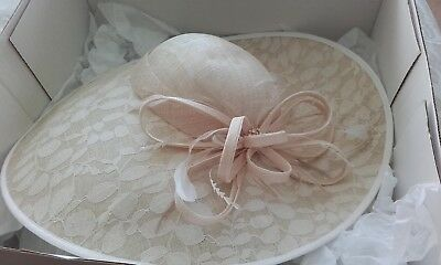 9fc2f7573bf SUZANNE BETTLEY CHAMPAGNE WEDDING Hat Occasion Mother Of The Bride ...