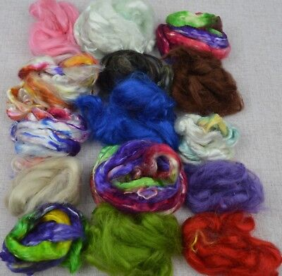 55g Bag Of Tussah silk top, 15 Colours , Spinning paper making, Crafts