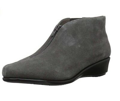 ef8dbfc20f3c Women s Aerosoles Ankle Booties - Allowance - Dk Gray Suede - WIDES ...