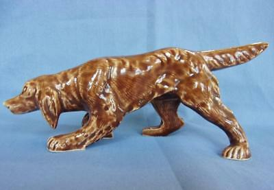 Vintage Ceramic Irish Setter Dog Figurine, 8""
