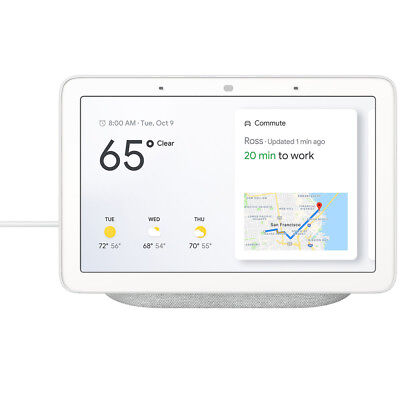 """Google 7"""" Voice-Activated Smart Assistant Home Hub - Chalk"""