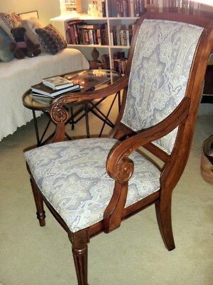 """PAIR Ethan Allen """"Adison"""" Arm Occasional chair Armchair Orig $560 ea PICKUP ONLY"""