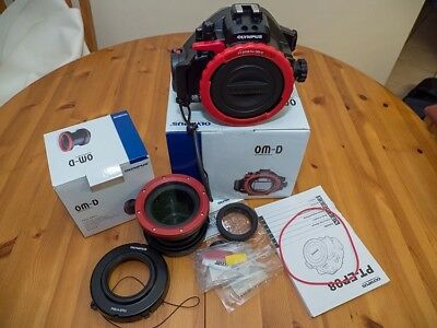 Olympus PT-EP08 Underwater Housing with Port for Olympus OM-D E-M5 Camera + accs