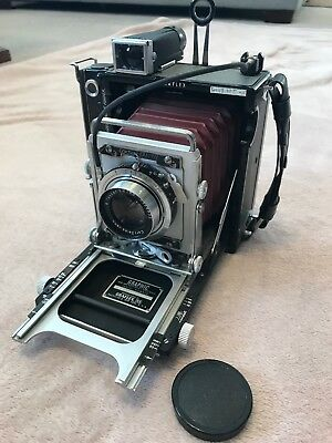 Graflex Century Graphic with red bellows and Carl Zeiss lens