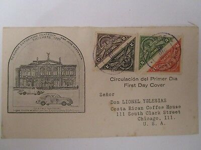 Costa Rica - First Day Cover 1937