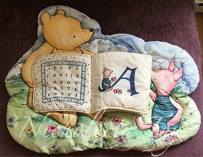 "Large Plush 29""x23"" Classic Pooh ABC Nursery Bedding Wall Hanging -Free Shipping"