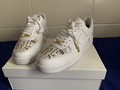 cheaper 62c75 02521 NYC EXCLUSIVE LASER CUSTOM Nike Air Force 1 Low White Soho 315122 111 Size  10.5