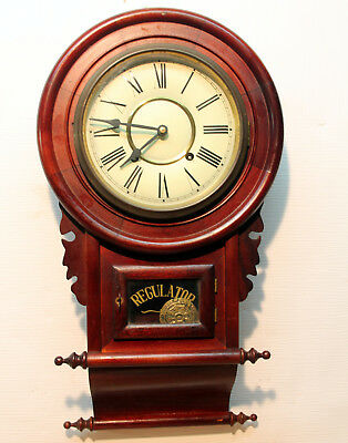 Old Wall Clock Regulator Wall Clock in wood **31 day**