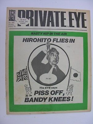 PRIVATE EYE 1971 8 October 1971 No 256 Emperor Hirohito, Gerald Scarfe Cartoon
