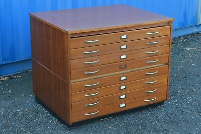 Vintage 1960's Architects Plan Chest Map Drawers