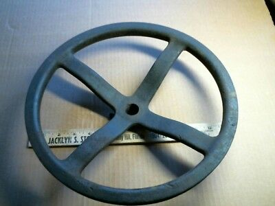 Cast Iron pulley wheel offset antique vintage old treadle sewing machine