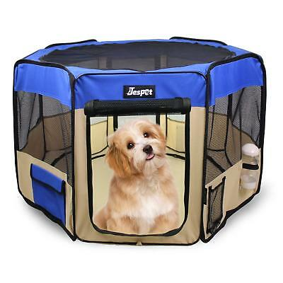 Jespet 2-Door Soft sided Pet Playpen, Portable Exercise Pen, with Carry Bag