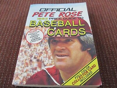 Official Pete Rose 1983 Price Guide To Baseball Cards - Rose Card Nm
