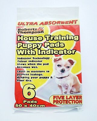 Ultra Absorbent Puppy Training Pads 5 Layer Protection With Indicator Toilet