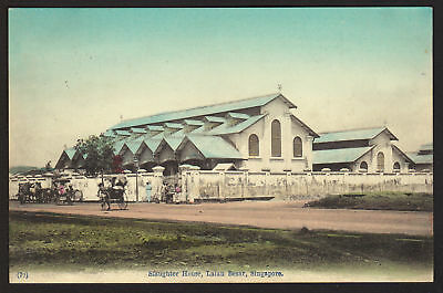 SINGAPORE postcard Slaughter House, Lalan Besar