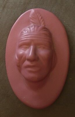 Antique Van Briggle Pottery Indian Chief Wall Plaque Nice L🤪🤪K