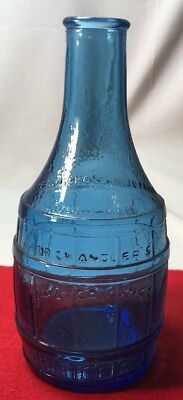 Wheaton Blue Glass Dr. Chandler's Jamaica Ginger Root Bitters Bottle