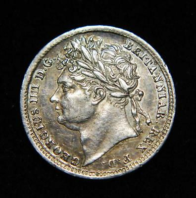 GB George IV silver Maundy penny 1d 1825 - NICE!