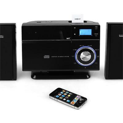 Stereo Musikanlage mit iPod/iPhone Dock & Bluetooth Adapter. Wireless Streaming