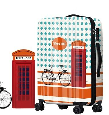 D111 Lock Universal Wheel ABS+PC Travel Suitcase Cabin Luggage 24 Inches W