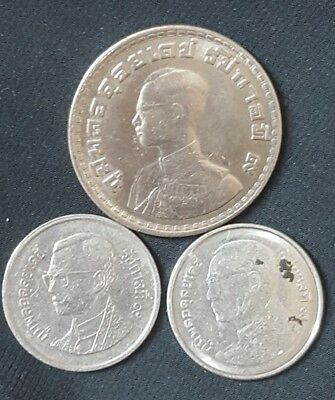 Thailand small lot of 3 Coins