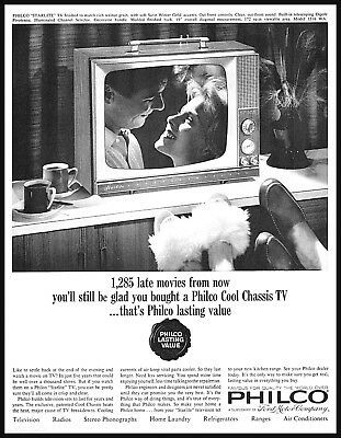 1964 Philco Ford portable television cool chassis late movie photo Print Ad